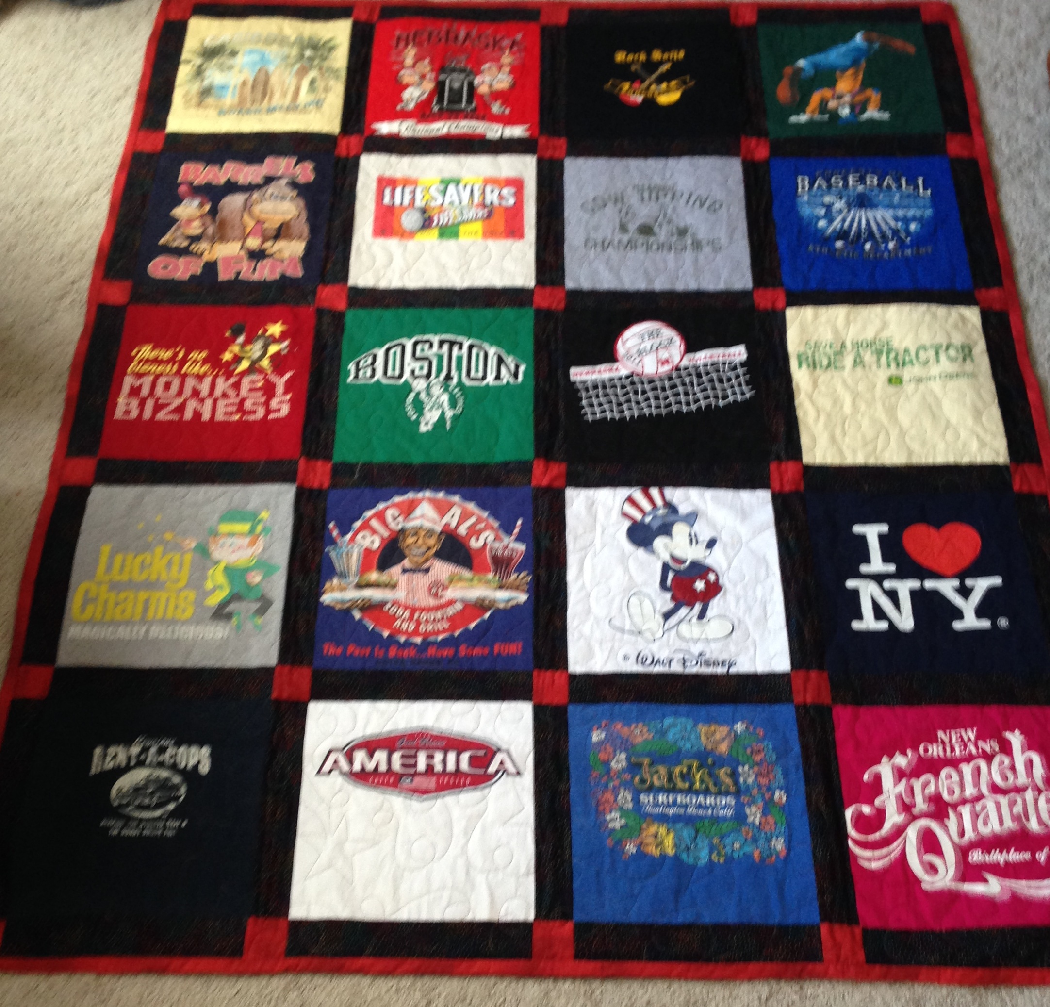 February 25, 2014 - Graduation Gifts: T-Shirt Quilts - Loftworks ... : pictures of tshirt quilts - Adamdwight.com